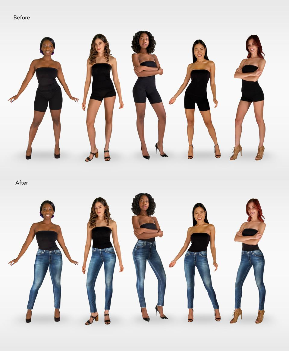 StyleScan augmented try-on technology digitally dresses models and consumers in 3D apparel.