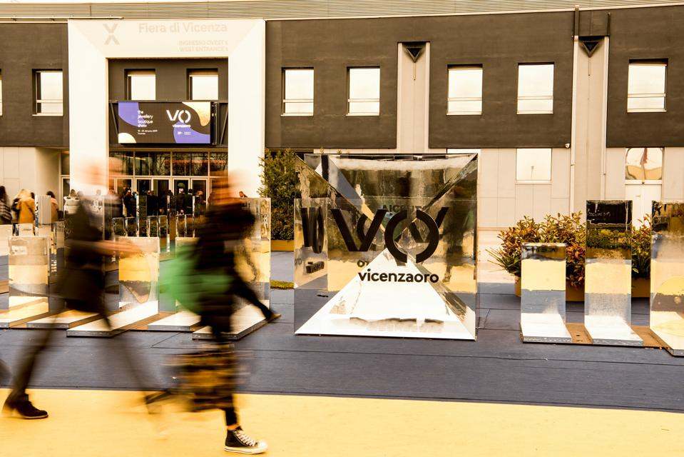 The entrance to the Vicenzaoro jewelry trade fair