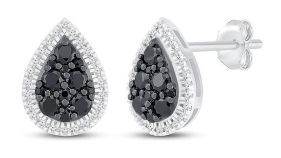 Kay Jewelers Black & White Diamond Earrings