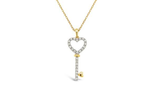 With Clarity Keystar Diamond Pendant