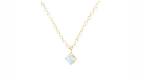 Catbird Sleeping Beauty Necklace, Opal Solitaire