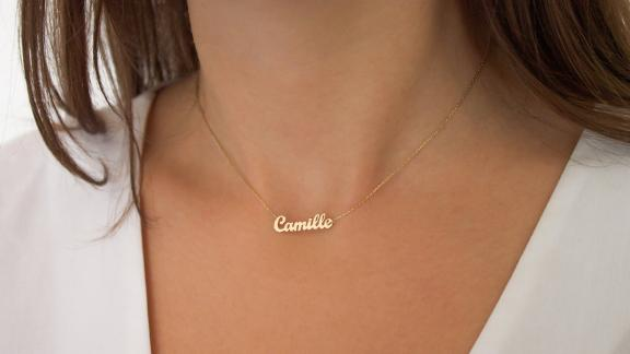 Your Names Jewelry 14K Solid Gold Name Necklace