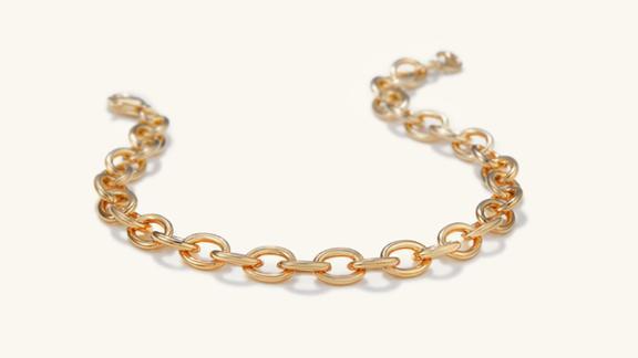 Mejuri Drawn Cable Chain Bracelet