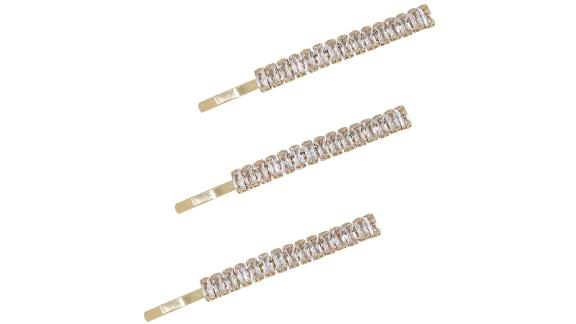 Ettika 3-Pack Crystal Bobby Pins