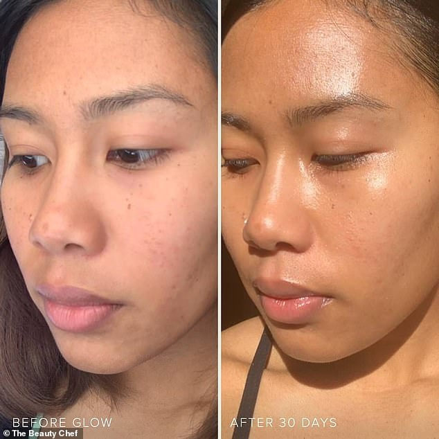 Monique isn't the only one to have had success with The Beauty Chef, as dozens of others have shared before and after snaps of taking the products for 30 days (pictured)