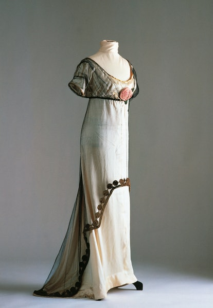 A Paul Poiret dress made in the Directoire silhouette