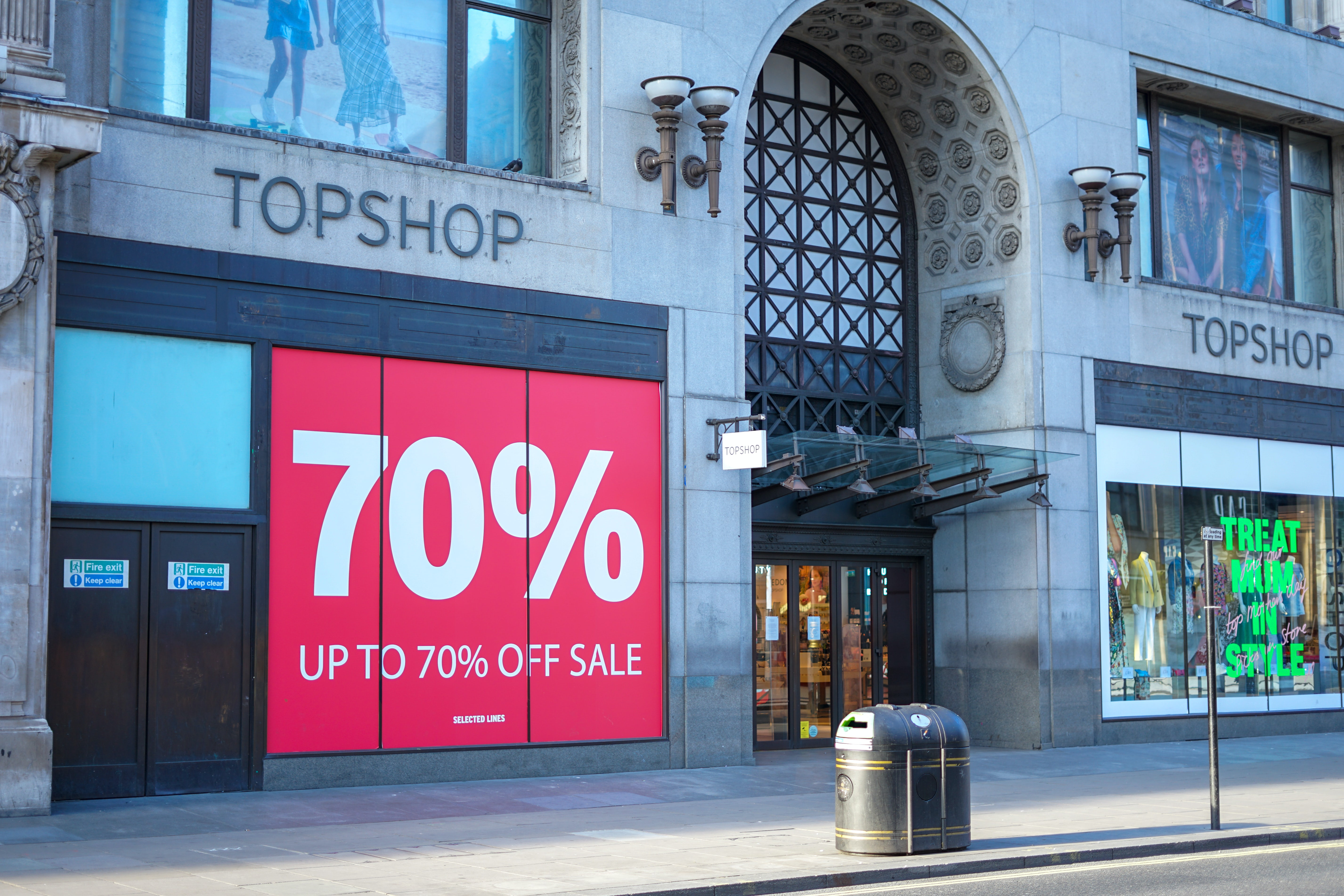 Topshop store in London, UK. Shutterstock.