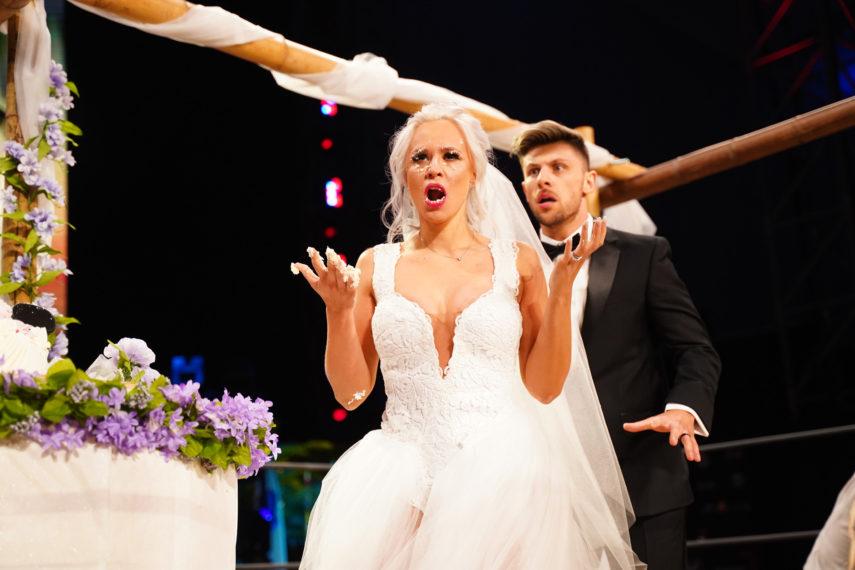 Penelope Ford and Kip Sabian at AEW Dynamite wedding