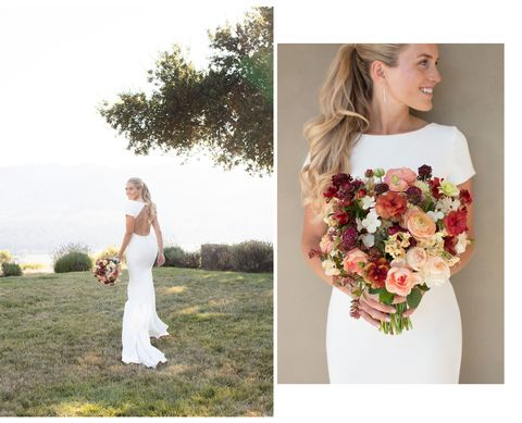 kathrin and bouquet