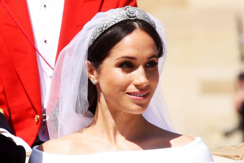 Meghan Markle in Wedding Dress Tiara