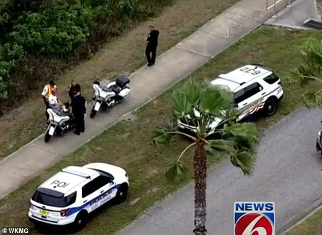 News 6 filmed footage of police and paramedics arriving on the scene to assist the injured sheriff