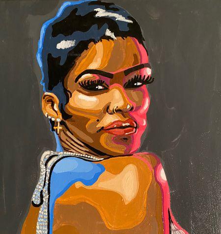 Amaya Finklea-Guity's art of Teyana Taylor