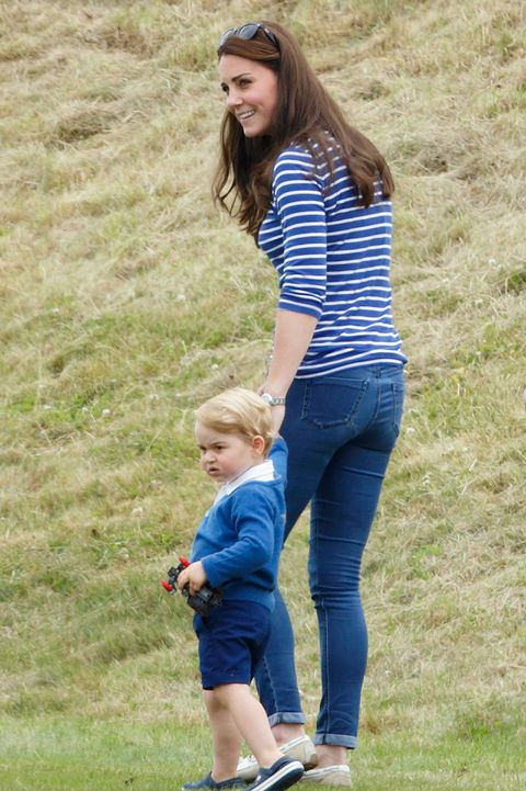 tetbury, united kingdom   june 14 embargoed for publication in uk newspapers until 48 hours after create date and time catherine, duchess of cambridge and prince george of cambridge attend the gigaset charity polo match at the beaufort polo club on june 14, 2015 in tetbury, england photo by max mumbyindigogetty images
