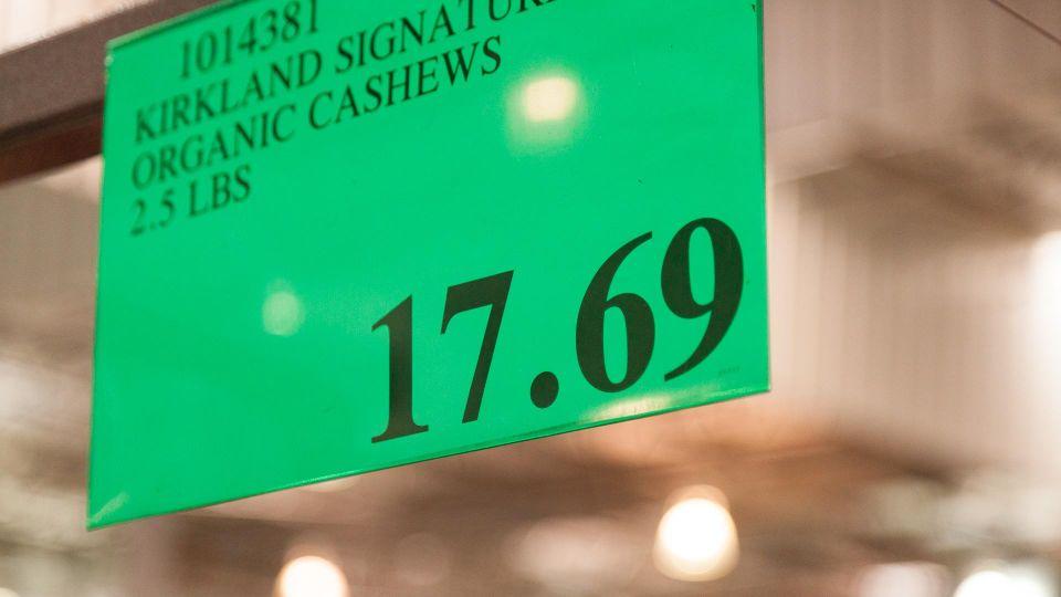 Costco pricing tag