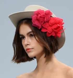 Head shot of Kaia Gerber modelling for Chanel, October 2019