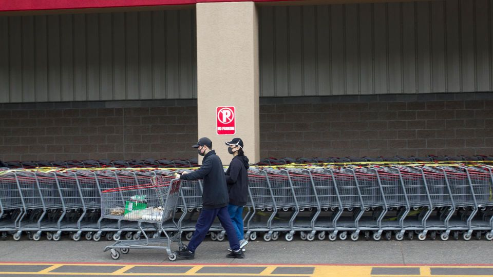 customers leaving costco