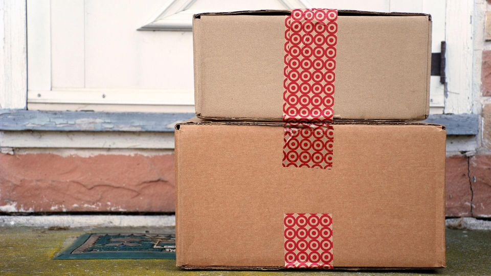 HAGERSTOWN, MD - DECEMBER 12, 2015: Image of Target packages.