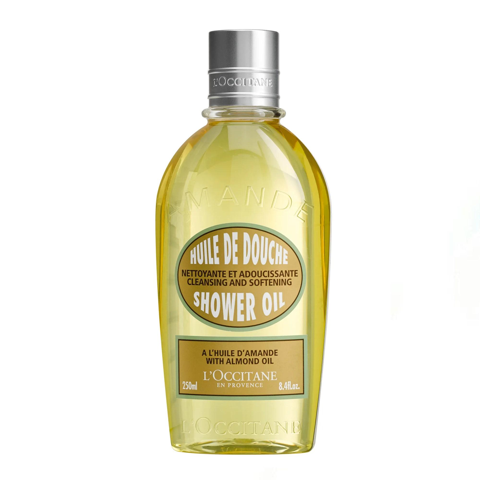 bottle of shower oil