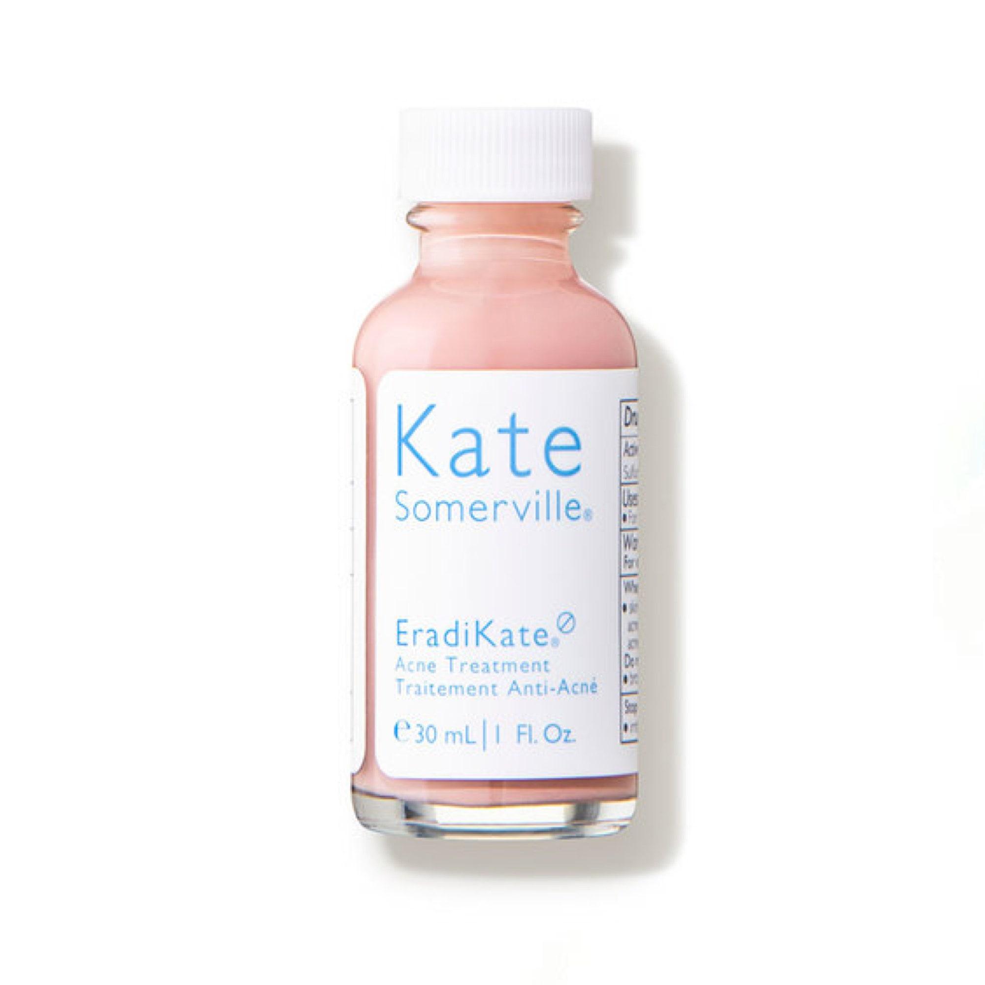 bottle of acne treatment