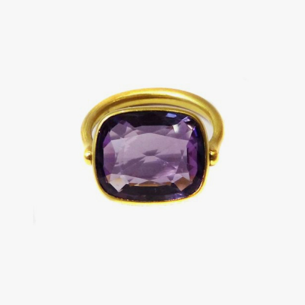 Image may contain: Jewelry, Accessories, Accessory, Ring, Gemstone, Ornament, and Amethyst