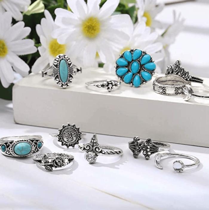 Yean Boho Ring Set