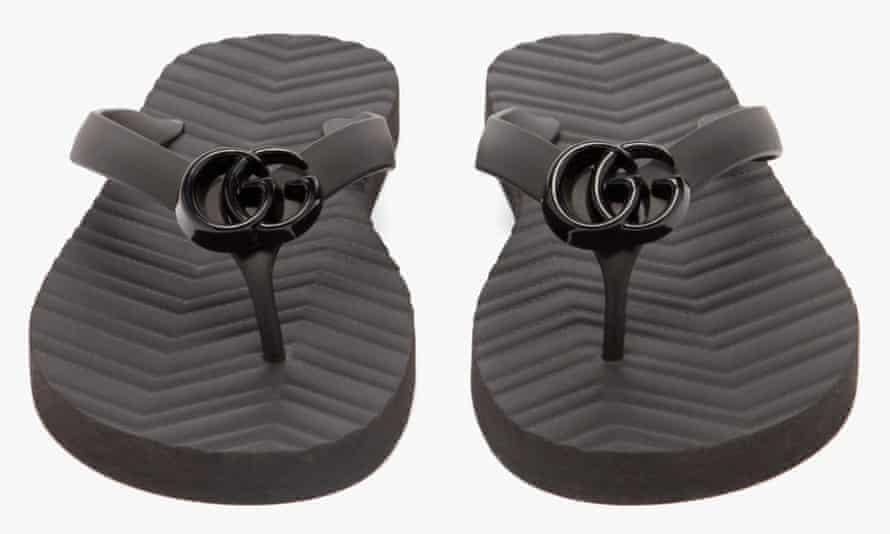 Gucci's GG flip-flops.