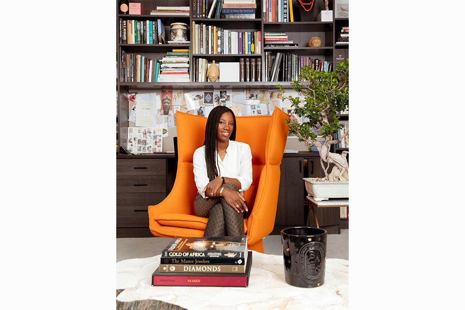 The designer, Catherine Sarr