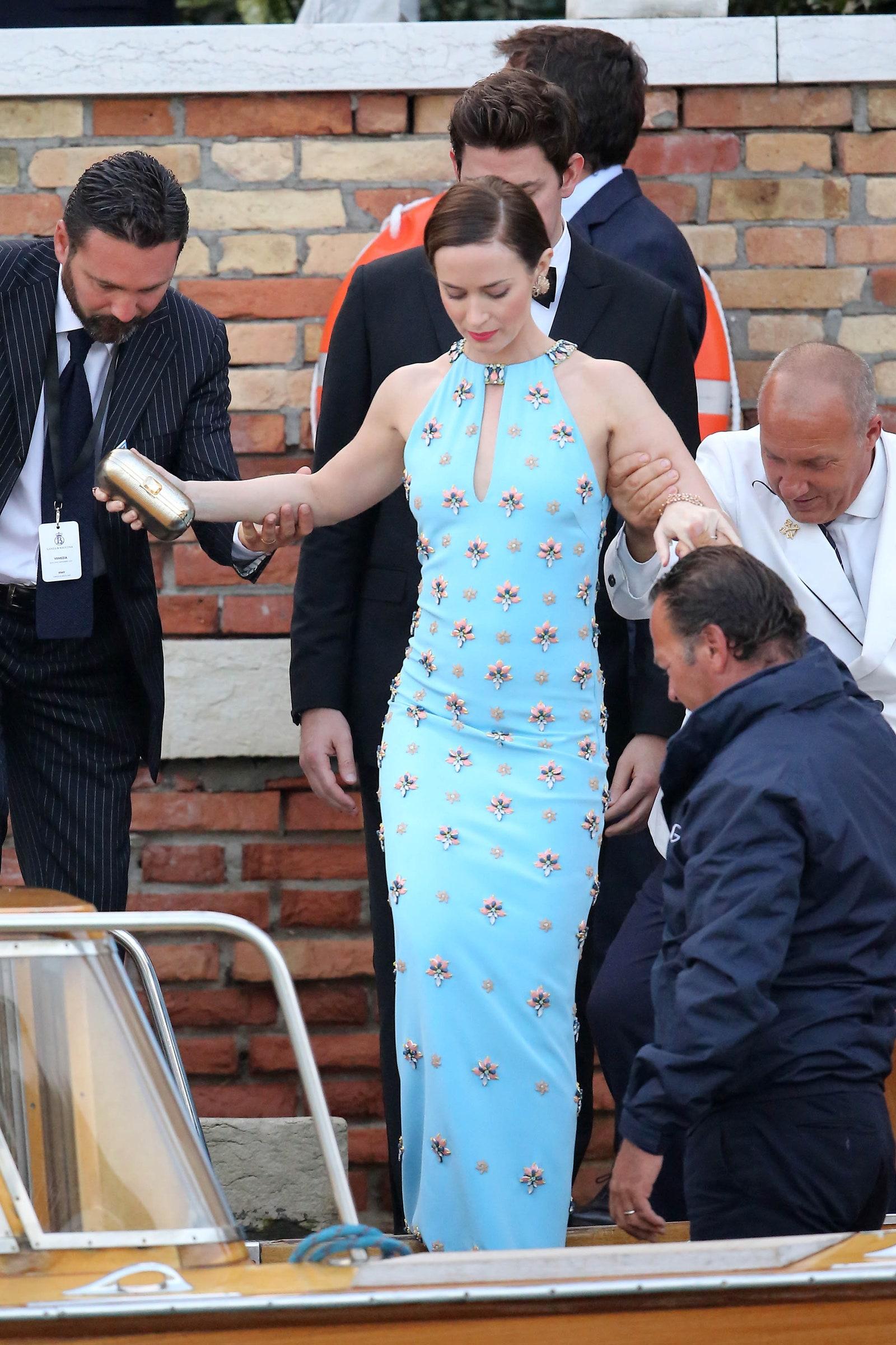 celebrity wedding guest dresses