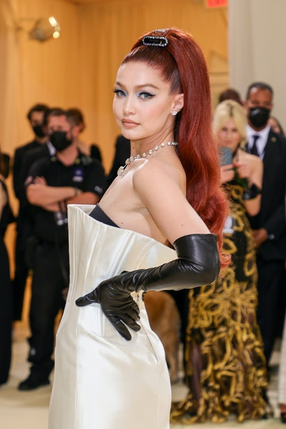 Gigi Hadid's long high ponytail with extensions at the 2021 Met Gala was all the hair inspiration yo...